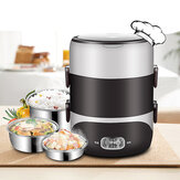 2.0L 3-Layers 220V Stainless Steel Electric Lunch Box Food Container Rice Cooker