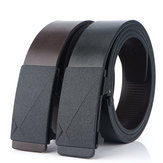 130cm TUSHI L13 Men Cow Leather Waist Belt Zinc Alloy Buckle Adjustable Durable Casual Belt