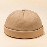 Męskie regulowane, oddychające, solidne francuskie czapki bez ramiączek Retro czapka z daszkiem z literą marynarz