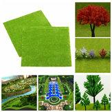 4 pcs/set Model Train Layout Green Grass Mat 25x25cm HO Scale Scenery Turf Decorations