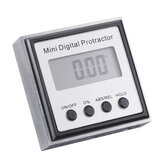 Drillpro Stainless Steel 360 Degree Mini Digital Protractor Inclinometer Electronic Level Box Magnetic Base Measuring Tools