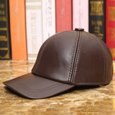 Men Vintage Genuine Leather Baseball Caps