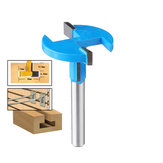 Drillpro 1/4 * 1-3 / 8 Inch T Slot Router Bit Straight Shank T-Track Woodworking Cutter