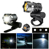 XANES® XL44  650LM T6 LED Zoomable Bike Headlight USB Charging Super Bright Bike Front Light Cycling Warning Light