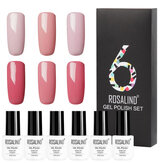 ROSALIND 6Pcs Gel à ongles Set Pure Colors UV Gel à ongles Vernis