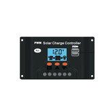 10/20/30A 12 / 24V solare Regolatore di carica Dual USB LCD Display solare Controllo ottico del pannello + Ritardo regolabile