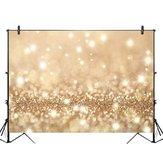 5x3FT 7x5FT 9x6FT Vinyl Gold Glitter Photography Backdrop Background Studio Prop