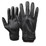 Mens Touch Screen Gloves PU Leather Winter Warm Waterproof Fleece Forrado Thermal