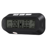 Solar Powered Monitor TPMS Car Tire Pressure Temperature Alarm