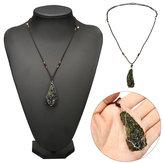 Melting Moldavite Quartz Pendant Crystals Gemstone Necklace Specimen Healing 20g