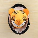Tiger 3D vilt dierenkop muurkamer Verjaardagsfeestje Kerstmis Artwork sticker Kinderkamer kinderkamer wanddecoraties