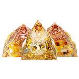 Reiki Chakra Pyramid Stone Set Reiki Generatore di energia Guarigione Gemme Decorazioni di cristallo