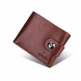Portatarjetas de billetera de cuero de imitación retro de negocios de moda para hombres