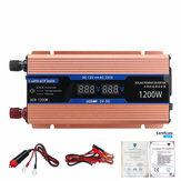 2 LED Dispaly 1200W Peak Intelligent Power Converter Car Inverter Power Supply Inverter For Car/Househould