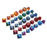 35pcs acrylique polyhédral Dice Set jeu de rôle Dices Gadget pour Dongeons Dragons D20 D12 D10 D8 D6 D4 jeux