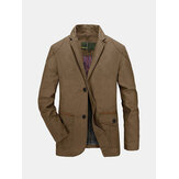 Homme Printemps Automne Cotton Blend Casual Butons Veste Manteau Costume