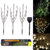 3 STKS Zonne-energie Warm Wit Colorful Witte LED Tak Blad Boom Licht Outdoor Tuinpad Patio Grens