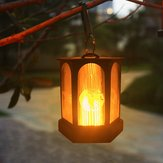 Solar Powered 96 LED Flame Effect Hanging Lantern Light Outdoor Waterproof Garden Lawn Tree Decor