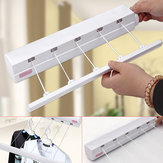 5 Line 3.7m Retractable Cloth Airer Wash Laundry Wall Mounted Indoor Dryer Hanger