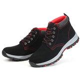 Sapatos de segurança para homens Boné de biqueira de aço Botas de proteção para treinamento Botas para caminhada