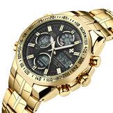 WWOOR 8019 LED Alarm Full Steel Business Style Digital Watch