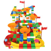 42/88 PCS Maze Ball Track Building Blocks ABS Funnel Slide Assemble Bricks Blocks Toys