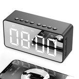 BT506 Wireless LED Display Mini Mirror Screen Alarm Clock bluetooth Speaker Music Player Loudspeaker