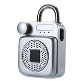 حقيبة ظهر صغيرة على شكل مكبر صوت بلوتوث ذكي قفل USB شحن التطبيق / بصمة إفتح قفل