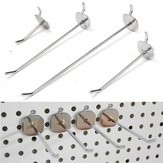 50/100/150/200mm Universal Pegboard Single Hole Hooks Chrome Home Kitchen Bathroom Tools Silver Iron Pegboard Hooks
