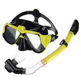 Full Face Diving Mask Snorkel Scuba Swimming Dry Snorkeling Set Free Breath