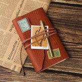 Sketchbook Briefpapier Agenda Vintage dagboek A6 Notebook schrijfzakken boek blad lederen Cover losse lege reisverslag Gift