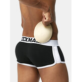 JOCKMAIL Hip Lifting U Convex Cotton Boxer Briefs  with Pads