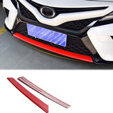 Estilo de fibra de carbono vermelho pára-choques dianteiro modelagem capa protetora guarnição para toyota camry 2018 110 x 15 x 10 cm