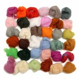 36 Colors Fiber Wool Yarn Roving Spinning Sewing Tools Trimming Merino Wool Fiber Roving for Needle Felting