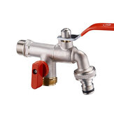 TMOK DN20 3/4 '' Kuningan 1 in 2 out Mesin Cuci Faucet Male Thread Ganda Outlet Tap dengan Katup Kontrol Aliran Air