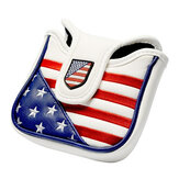 USA Square Mallet Putter Abdeckung Golf Headcover