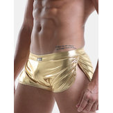 Shining Faux Leather Stage Underwear