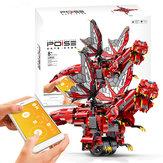 MoFun 2.4 Г DIY Динозавр Программируемый Блок Строения Управления Приложениями Встроенный Динамик Смарт-RC Робот Игрушка