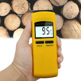 Digital Induction Wood Moisture Meter 0~50% Tree Timber Moisture Content Tester 0-50C Wood Thermometer Hygrometer LCD Backlight