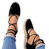 Kadın Strappy Espadrilles Günlük Yaz Platformu Sandaletler