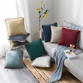 Linen Throw Pillow Case Cushion Cover Seat Sofa Case Home Bedroom Decoration 45x45cm