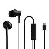 Fone de ouvido com cancelamento de ruído original Xiaomi Active USB Type-C Armadura balanceada Fone de ouvido com driver dinâmico e microfone