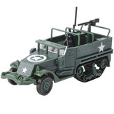 1:72 M3 DIY Assembly 4D Half Track Armored Diecast Vehicle Model for Kids Gift