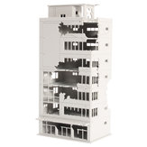 N Scale 1/144 White Ruined Building After War Assembling Model For GUNDAM Scene
