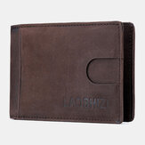 Hombres Piel Genuina Vinatage Thin Wallet Card Holder