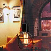 Vintage Industrial Pendant Ceiling Light Lamp Shade Metal Cage Black Cafe Loft Bar