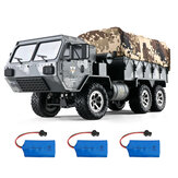 Eachine EAT01 1/16 2.4G 6WD RC Car Proportional Control US Army Military Off Road Rock Crawler Truck RTR Model pojazdu W / Kilka akumulatorów