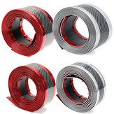 5 x 250cm/7 x 250cm Car Carbon Fiber Rubber Guard Strip Stickers Door Sill Trim Protector