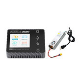 ToolkitRC & URUAV M600 150W 10A DC MINI Smart LCD 1-6S Lipo Battery Charger Discharger Carbon Fiber with LANTIAN 24V 16.6A Power Supply