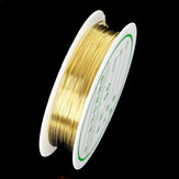 2-1.0mm Craft Beading Wire Gold Copper Wire For Bracelet Necklace Jewelry DIY Accessories